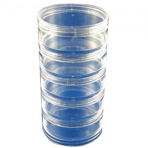5 pcs Stackable 1.5 oz Plastic Jar