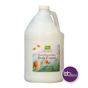 BeBeauty Honey Regeneration Body Cream - Cucumber Melon - 1gal.