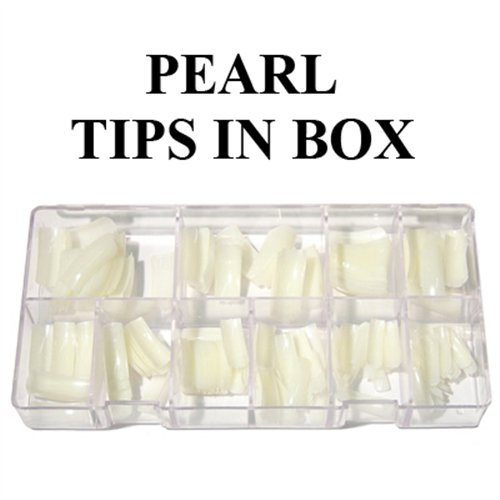 lm pearl tips 550pcscase 0 to 10 solar nails warehouse