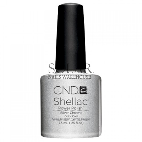 Chrome Nail Powder Cnd: CND-Silver Chrome, Solar Nails Warehouse