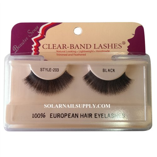 Beautee Sense Clear-Band Lashes (#203) - Black - 1 pack