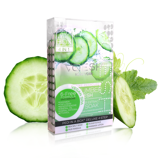 Voesh Pedi in a Box Deluxe (4-in-1) Cucumber Fresh