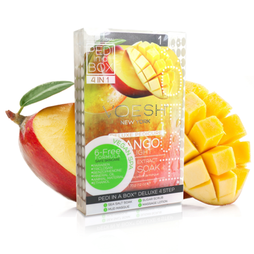 Voesh Pedi in a Box Deluxe (4-in-1) Mango
