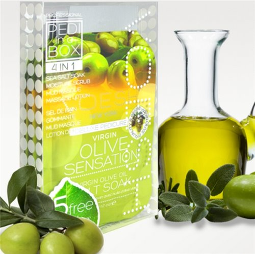 Voesh Pedi in a Box Deluxe (4-in-1) Virgin Olive Sensation