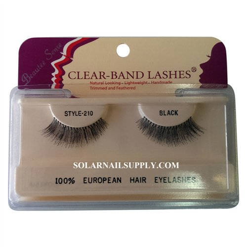 Beautee Sense Clear-Band Lashes (#210) - Black - 1 pack