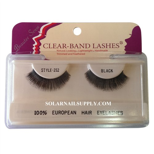 Beautee Sense Clear-Band Lashes (#212) - Black - 1 pack