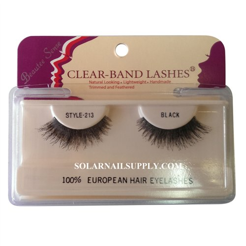 Beautee Sense Clear-Band Lashes (#213) - Black - 1 pack