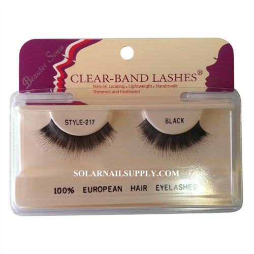 Beautee Sense Clear-Band Lashes (#217) - Black - 1 pack
