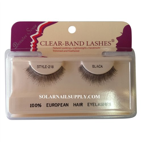 Beautee Sense Clear-Band Lashes (#218) - Black - 1 pack
