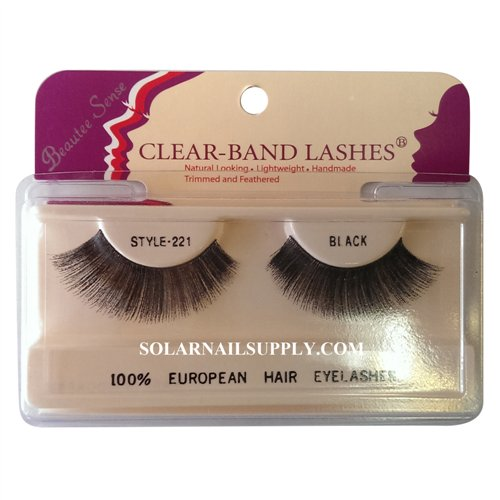 Beautee Sense Clear-Band Lashes (#221) - Black - 1 pack