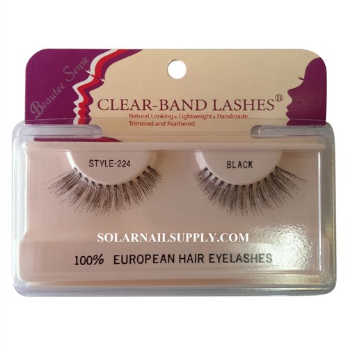 Beautee Sense Clear-Band Lashes (#224) - Black - 1 pack