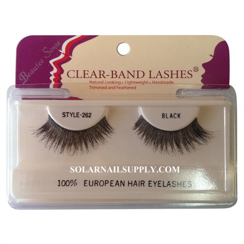Beautee Sense Clear-Band Lashes (#262) - Black - 1 pack
