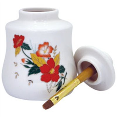Cuticle Oil Jar with Brush - Big