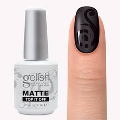 001-Gelish Matte TOP IT OFF - .5 oz
