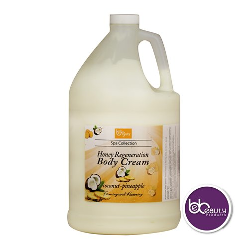 BeBeauty Honey Regeneration Body Cream - Coconut Pineapple - 1gal.