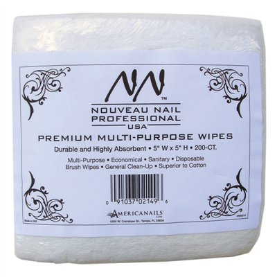 Nouveau Nail Premium Nail Wipes - 240 ct