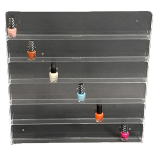 Acrylic Wall Polish Rack - 96 bottles
