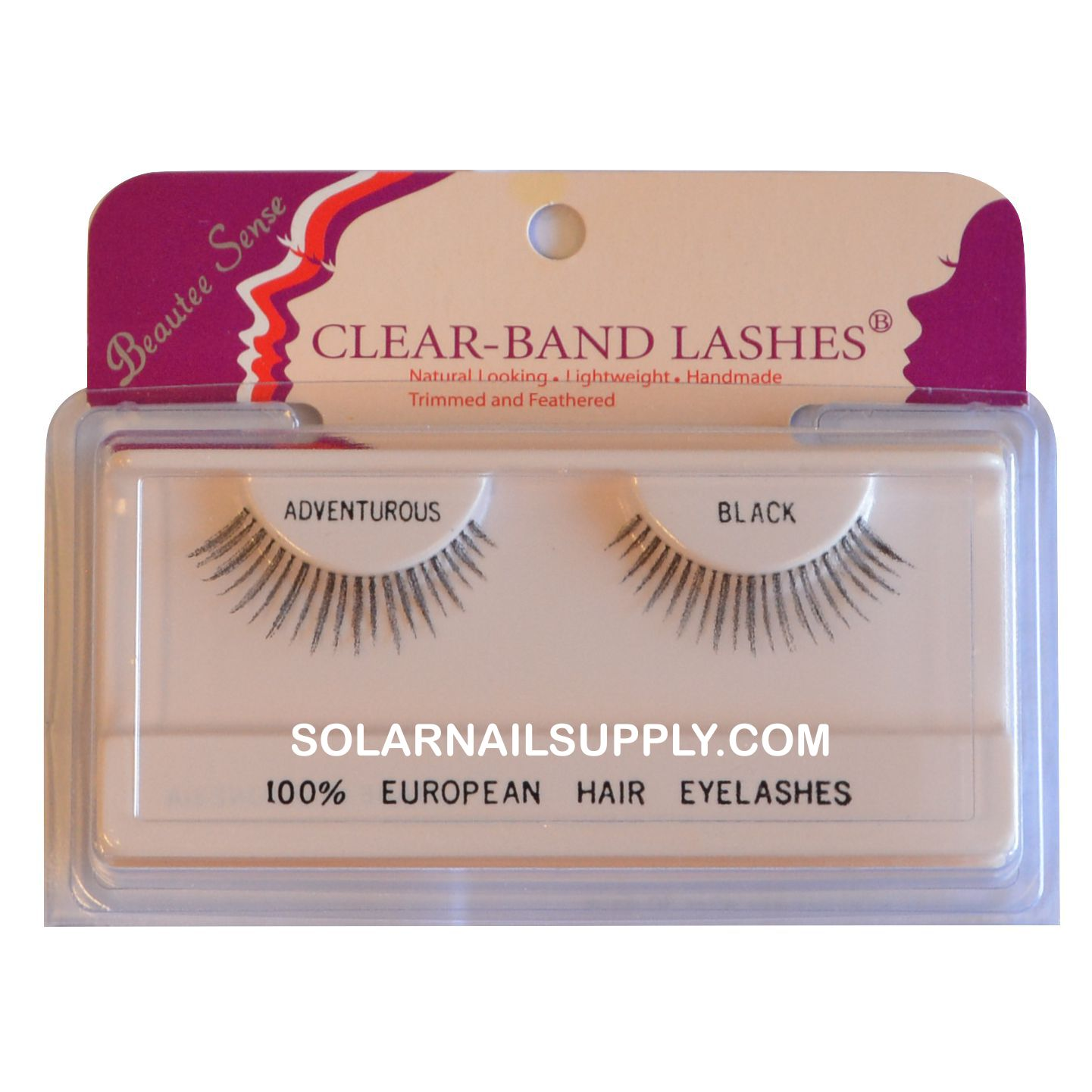 Beautee Sense Clear-Band Lashes (adventurous) - Black - 1 pack
