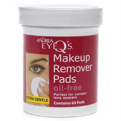 Andrea EyeQ's EyeQ's Eye Make-Up Remover Pads - Oil Free - 65 ct