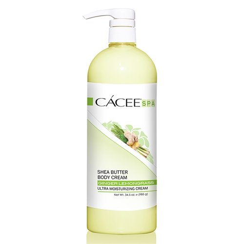 CACEE Sheer Butter Body Cream (LEMONGRASS GINGER) - 34.5 oz