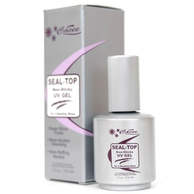 CACEE-Non Sticky UV Gel Seal Top - 0.5 oz