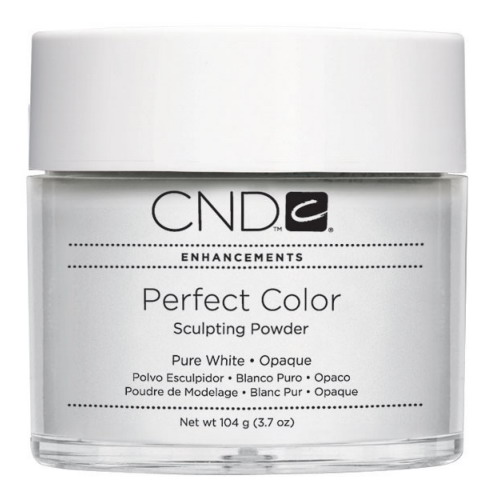 CND Perfect Color Powder-Pure White Opaque - 3.7 oz