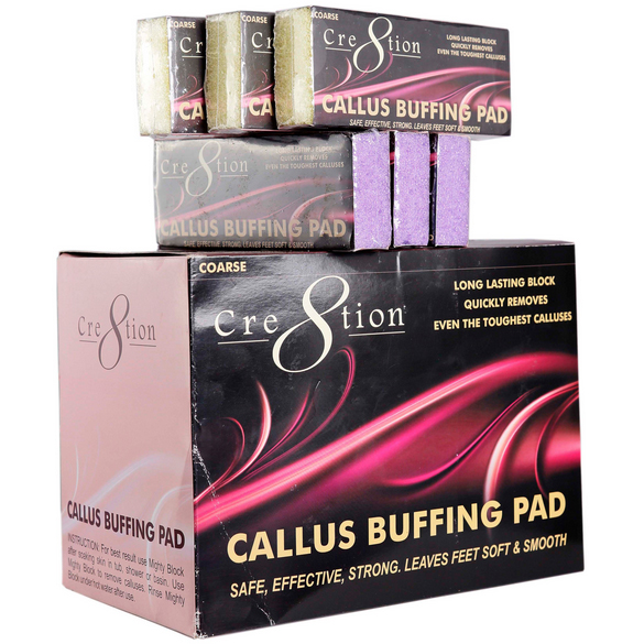 Cre8tion Long Callus Buffing Pad - 24pcs/box