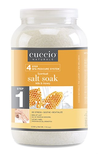 Cuccio STEP 1 Salt Soak (MILK & HONEY) - 1 GAL.