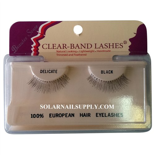 Beautee Sense Clear-Band Lashes (delicate) - Black - 1 pack