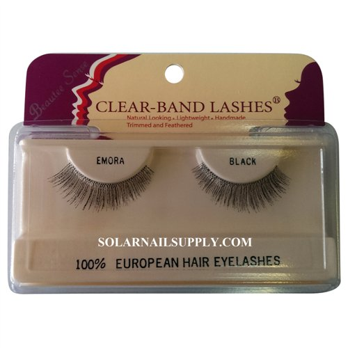Beautee Sense Clear-Band Lashes (emora) - Black - 1 pack