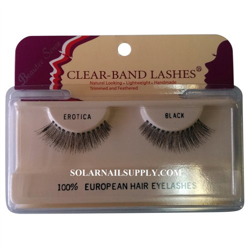 Beautee Sense Clear-Band Lashes (erotica) - Black - 1 pack