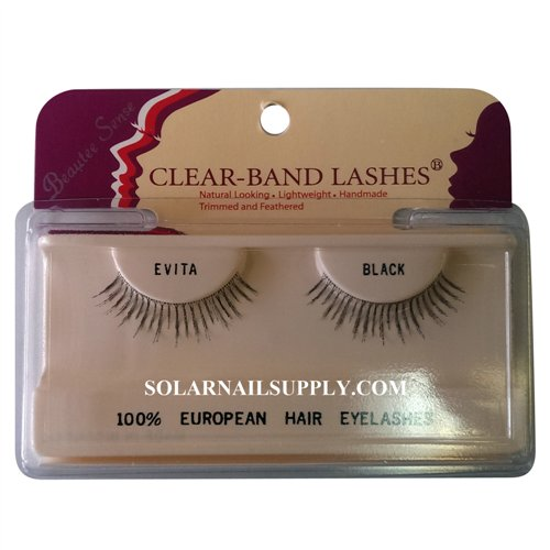 Beautee Sense Clear-Band Lashes (evita) - Black - 1 pack