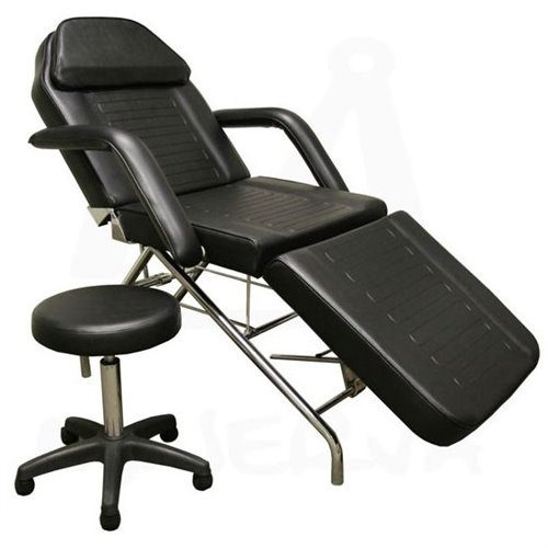 Facial Chair (BLACK) with round stool