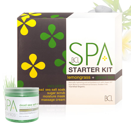 BCL Organic Spa 4-Piece Kit -  Lemongrass + Green Tea