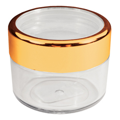 Twist Cap Jar with Gold Rim - 0.61 oz