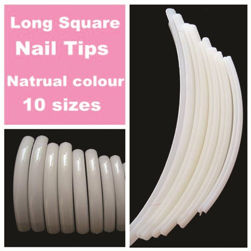 Extra Long Natural Tips - 10 pcs