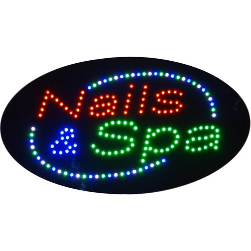LED Sign - Nails Spa