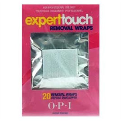 OPI Expert Touch Removal Wraps - 20 ct/pack