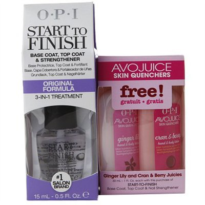 OPI Start to Finish - .5 oz + FREE AVOJUICE LOTION