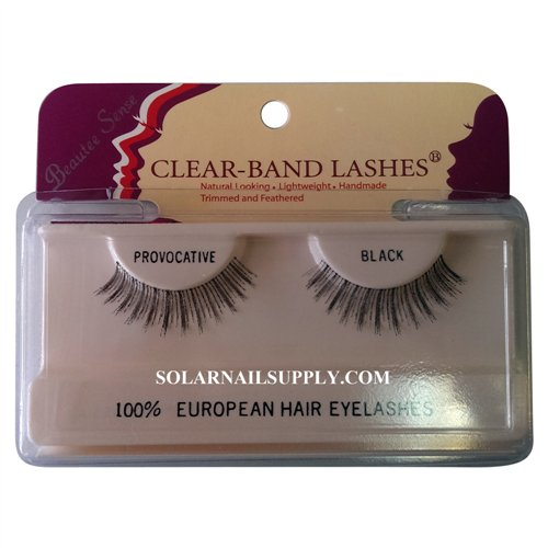 Beautee Sense Clear-Band Lashes (provocative) - Black - 1 pack