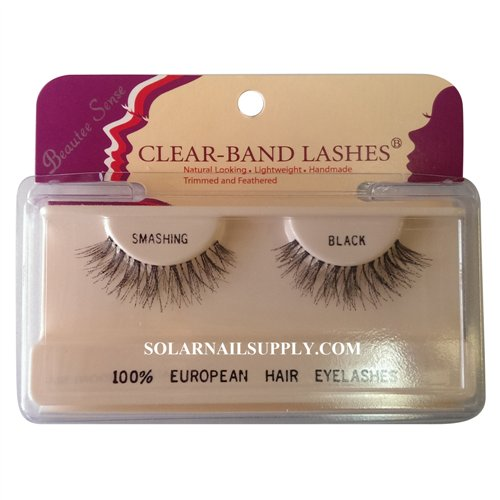 Beautee Sense Clear-Band Lashes (smashing) - Black - 1 pack