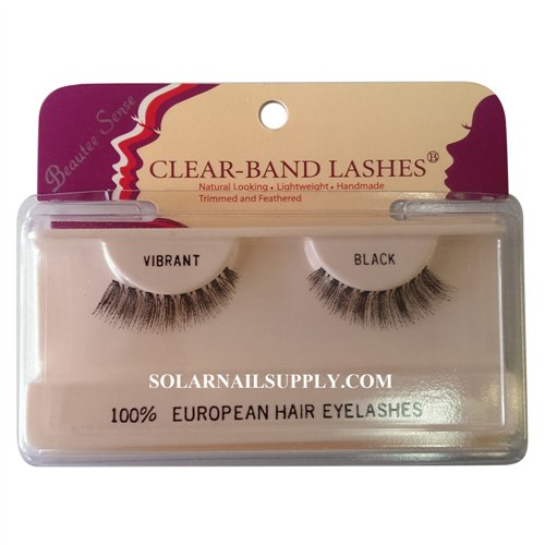Beautee Sense Clear-Band Lashes (vibrant) - Black - 1 pack