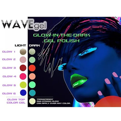 1-Wave 'Glow in the Dark' Gel Top - .5 oz